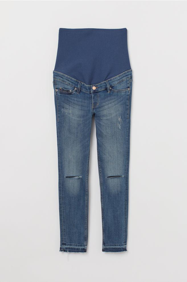 d80e2db366814 ... MAMA Skinny Ankle Jeans - Denim blue/Trashed - Ladies | H&M ...