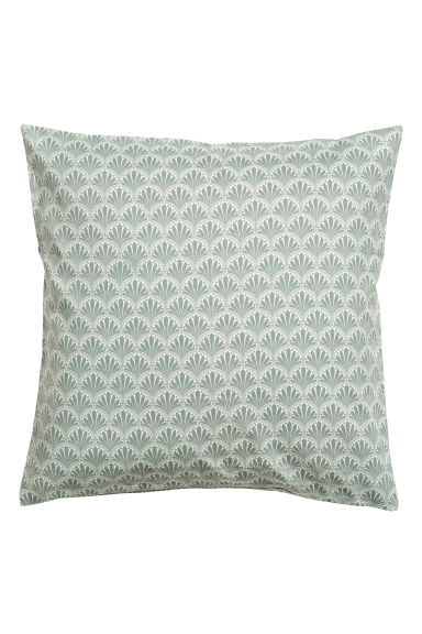 Patterned cushion cover - Green/Patterned -  | H&M GB