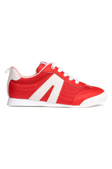 Mesh trainers - Red/White -  | H&M