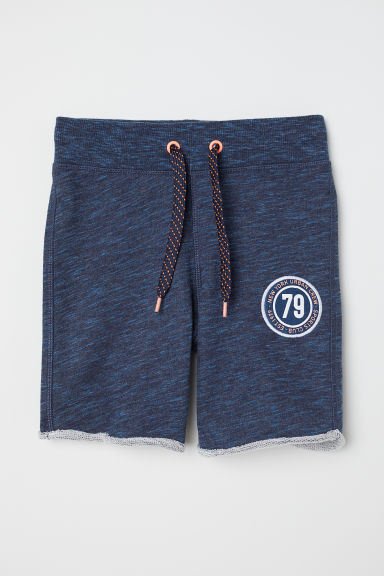 Shorts in felpa - Blu scuro mélange -  | H&M IT