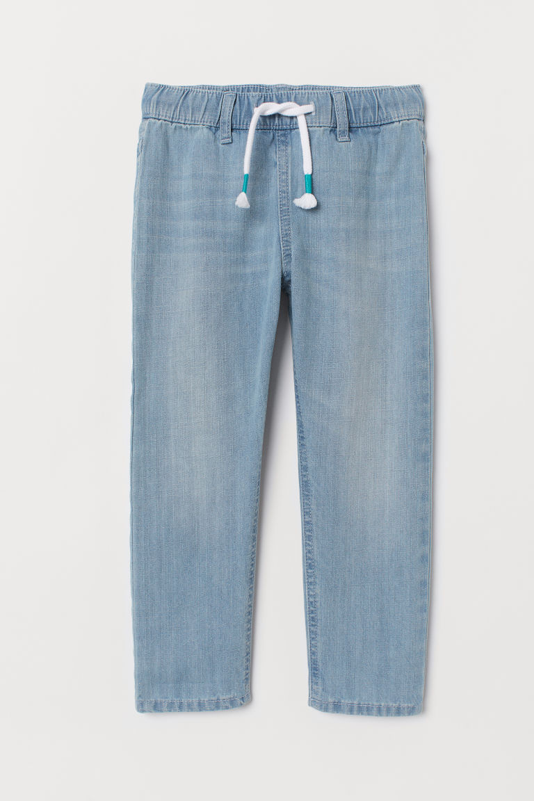 Pantalon jogger en denim - Bleu denim clair - ENFANT | H&M FR