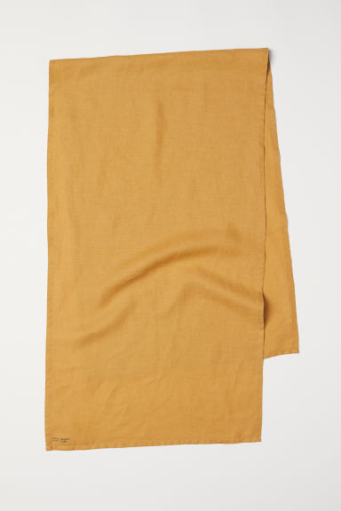 Runner in lino lavato - Giallo scuro - HOME | H&M IT