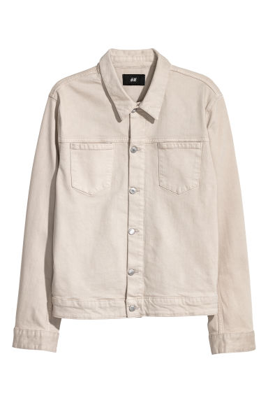 Denim jacket - Light beige - Men | H&M GB