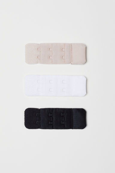 3-pack bra strap extenders - Black/White/Beige - Ladies | H&M