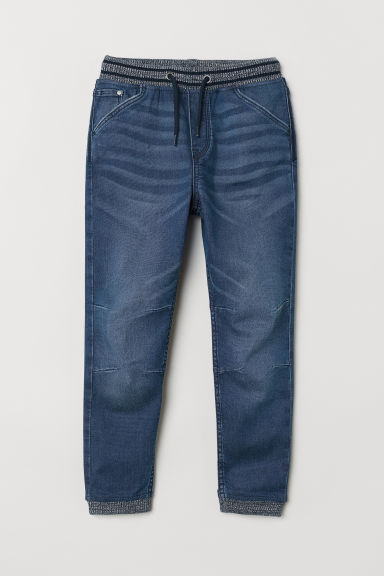 Super Soft denim joggers - Dark denim blue - Kids | H&M