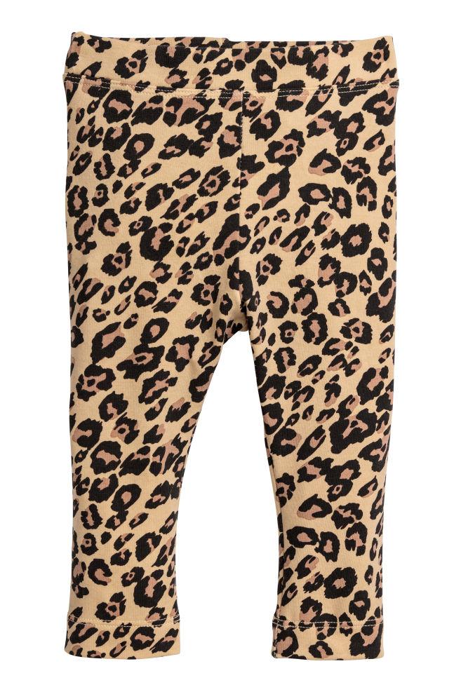 1cb8a94935e6f Leopard-print leggings - Beige/Leopard print - Kids | H&M ...