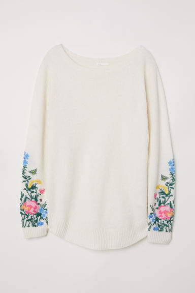 MAMA Fine-knit jumper - Cream - Ladies | H&M CN