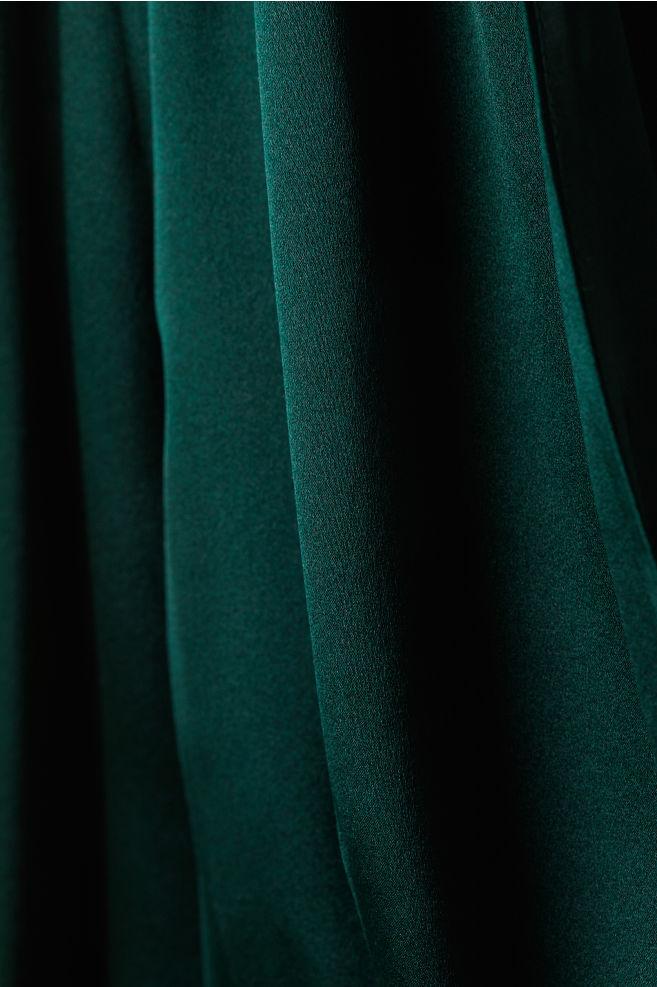 ... Silk-blend Dress - Dark green - Ladies  8b31c1209