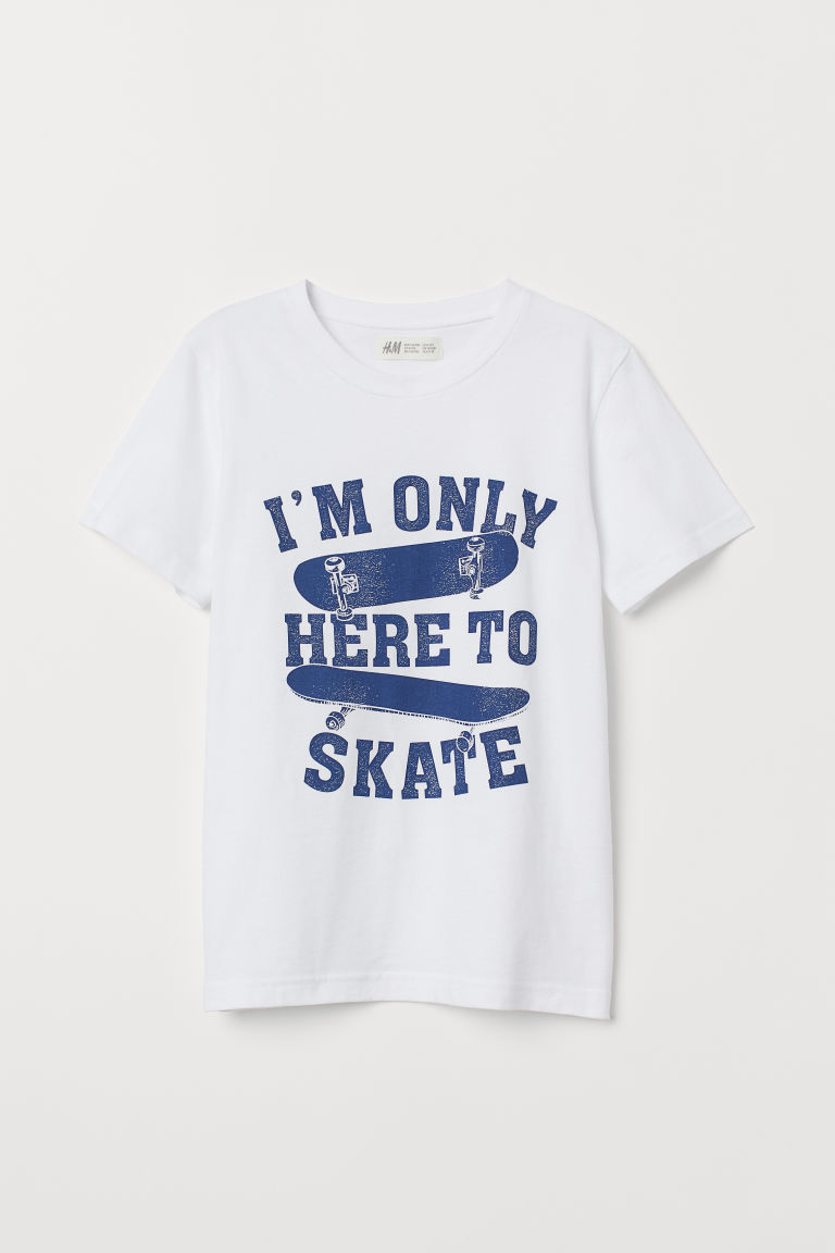 T-shirt with a print motif - White/Skateboards -  | H&M