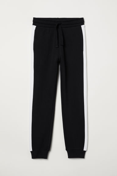 Joggers - Black/White - Kids | H&M IN