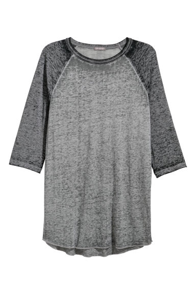 Airy baseball top - Dark grey - Men | H&M IE