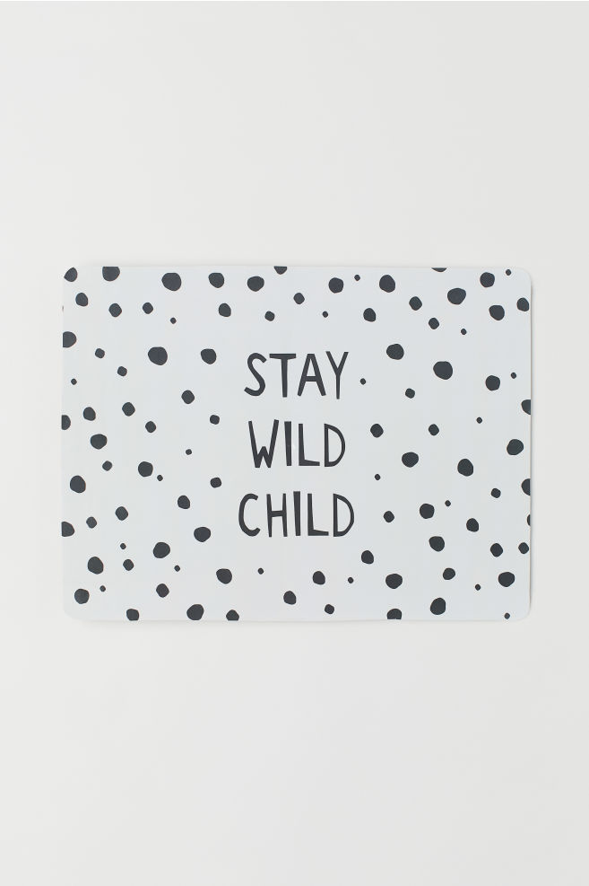 6e718265f1 Placemat with Printed Design - White/Stay Wild Child - Home All | H&M US