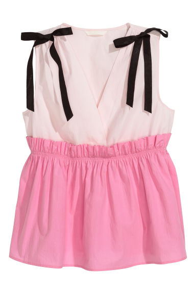 V-neck top - Pink - Ladies | H&M