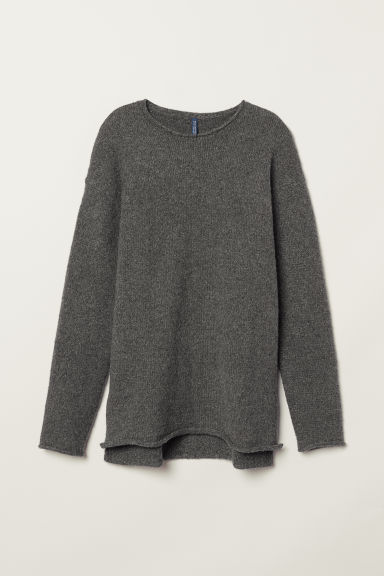 Fine-knit jumper - Dark grey marl - Men | H&M