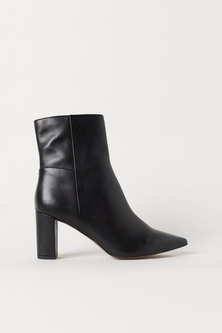 Block-heeled Ankle Boots - Black - Ladies | H&M US