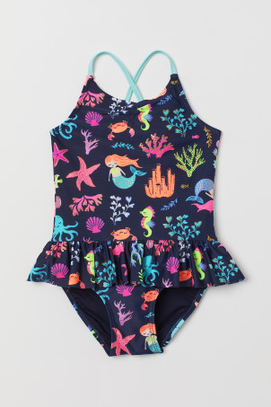Flounced swimsuit
