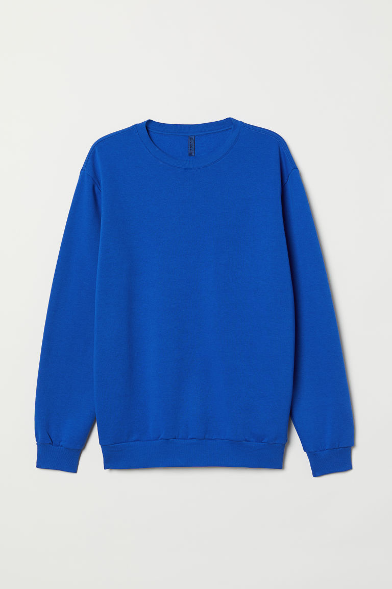 Oversized sweatshirt - Bright blue - Men | H&M GB