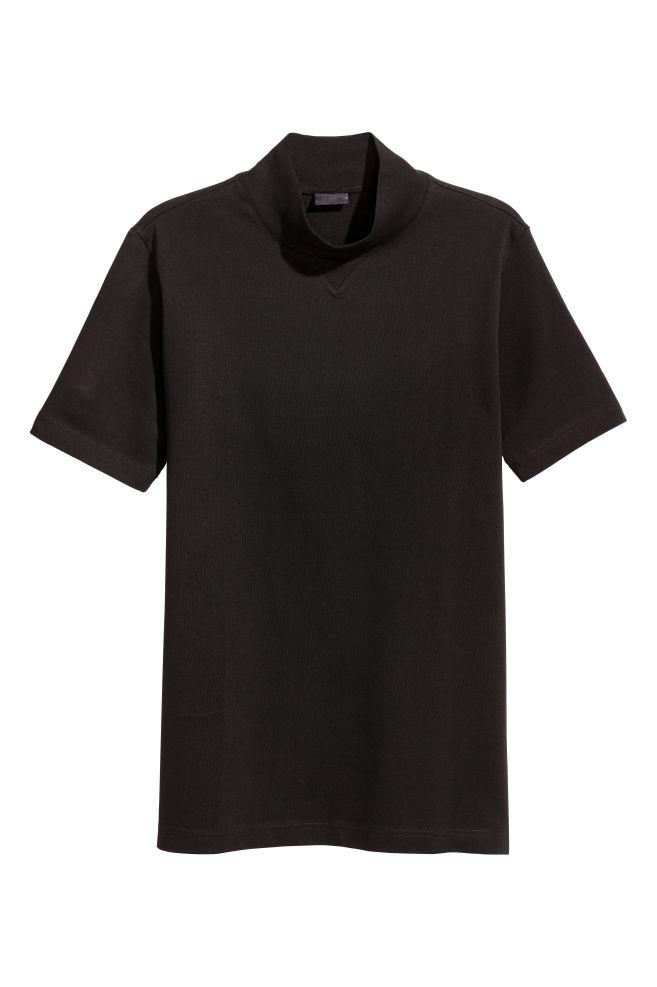 Magas nyakú póló - Fekete - FÉRFI  c72f2cd811