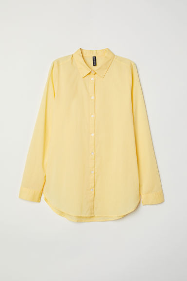 Cotton shirt - Yellow -  | H&M CN
