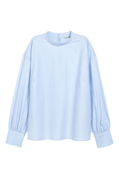 Blouse - Light blue/Striped -  | H&M CN