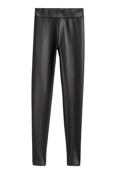 Coated leggings - Black -  | H&M GB