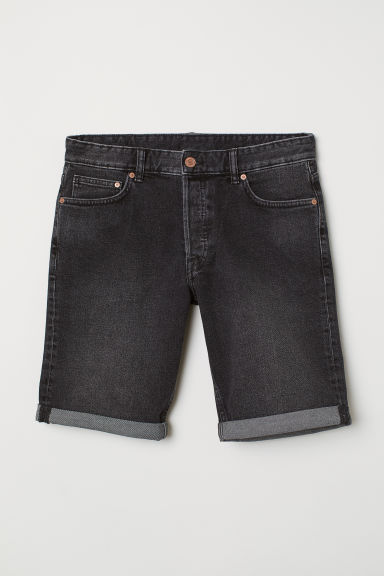 Slim fit Denim shorts - Dark grey -  | H&M