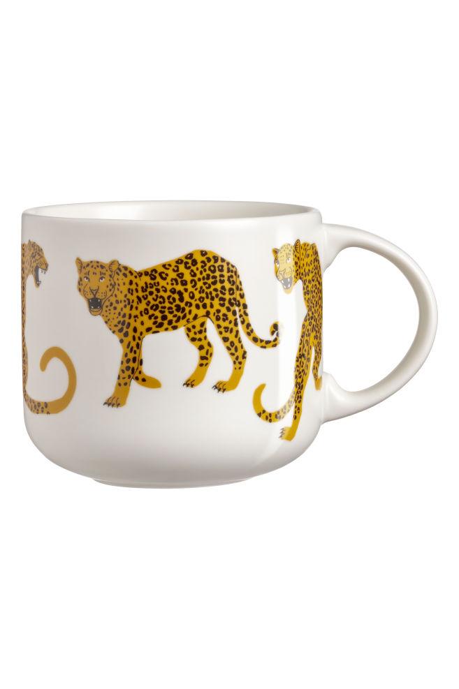 93a3721569c8 Porcelain Mug - White/leopards - Home All   H&M ...
