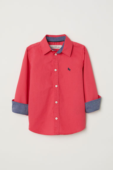 Cotton shirt - Coral red - Kids | H&M