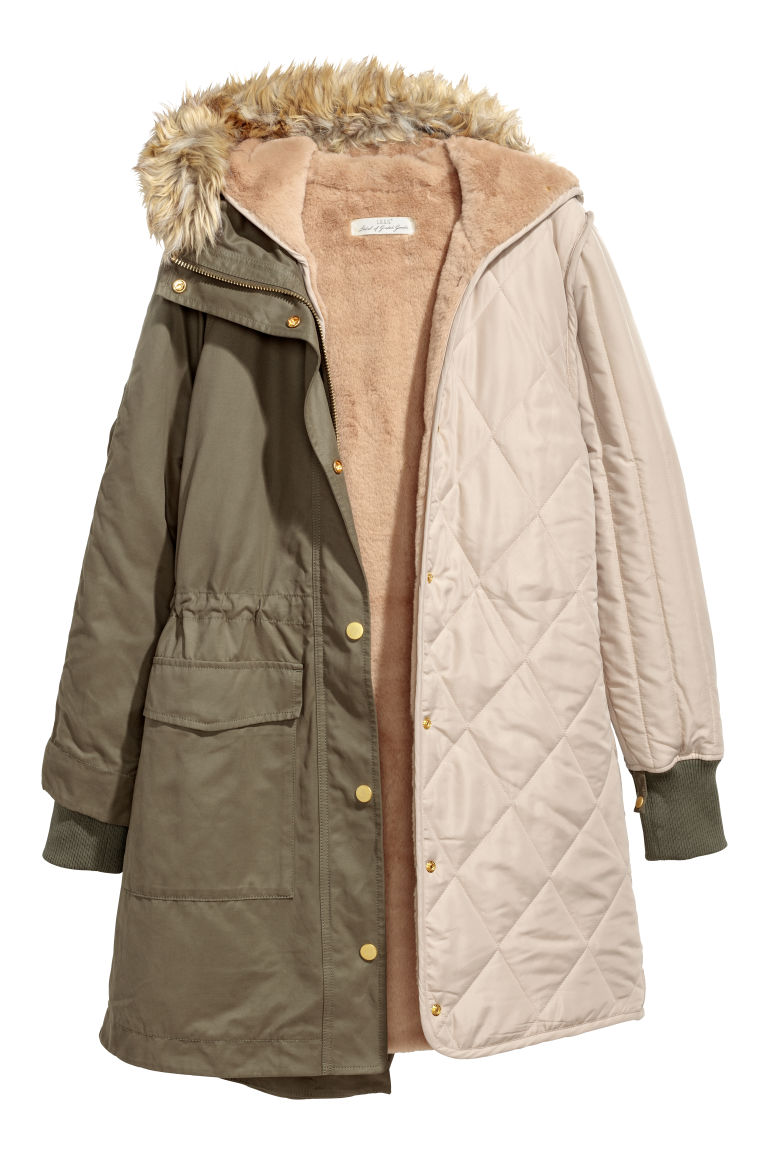 Parka with Inner Jacket - Khaki green - Ladies | H&M CA