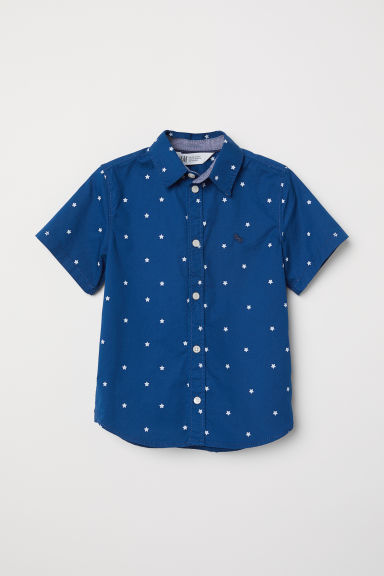 Short-sleeved shirt - Dark blue/Stars - Kids | H&M CN