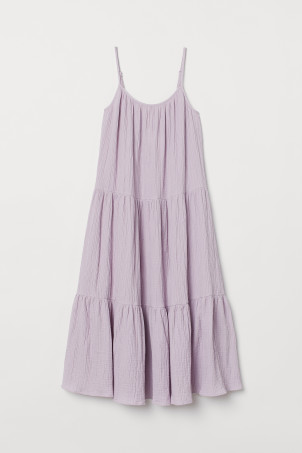 Crinkled Cotton Dress