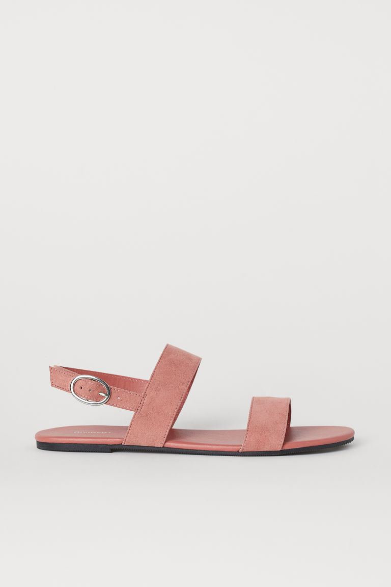 Imitation suede sandals - Old rose -  | H&M IN