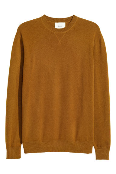 Pull en cachemire - Ocre - HOMME | H&M BE