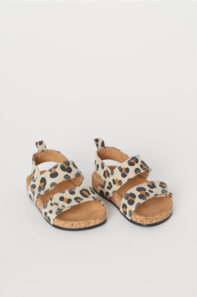 10cfc096e1ef Sandals - Light beige/leopard print - Kids   H&M ...