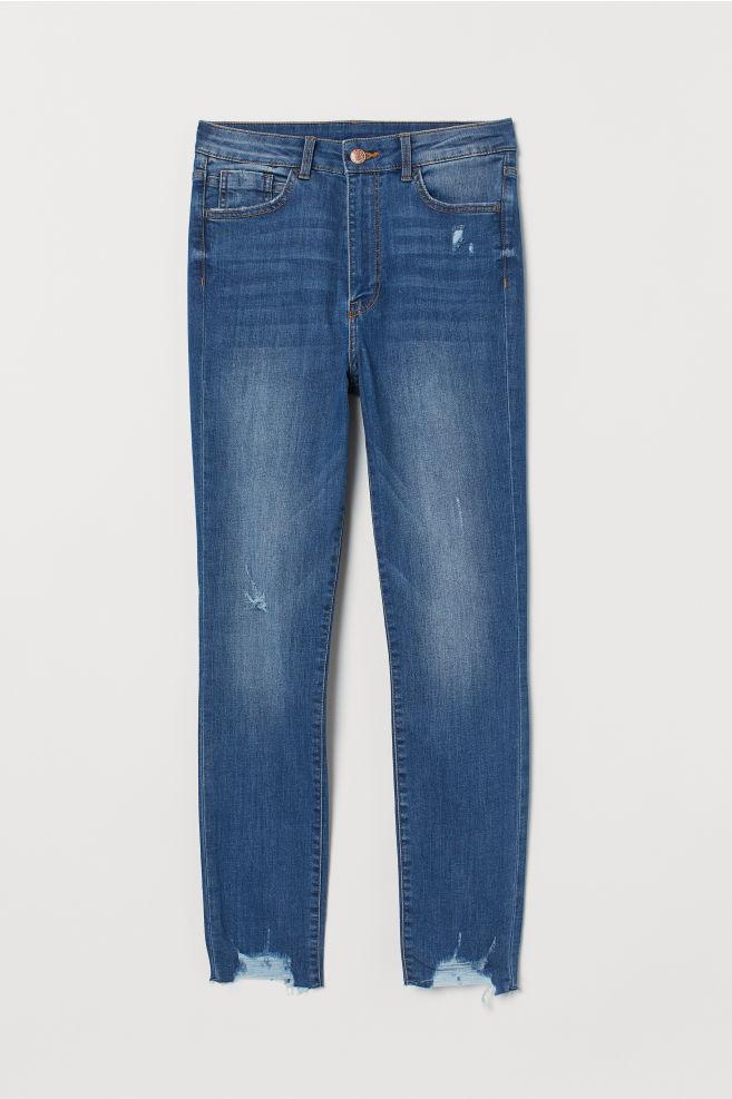 5e40277101f691 Super Skinny High Ankle Jeans - Denim blue - | H&M ...