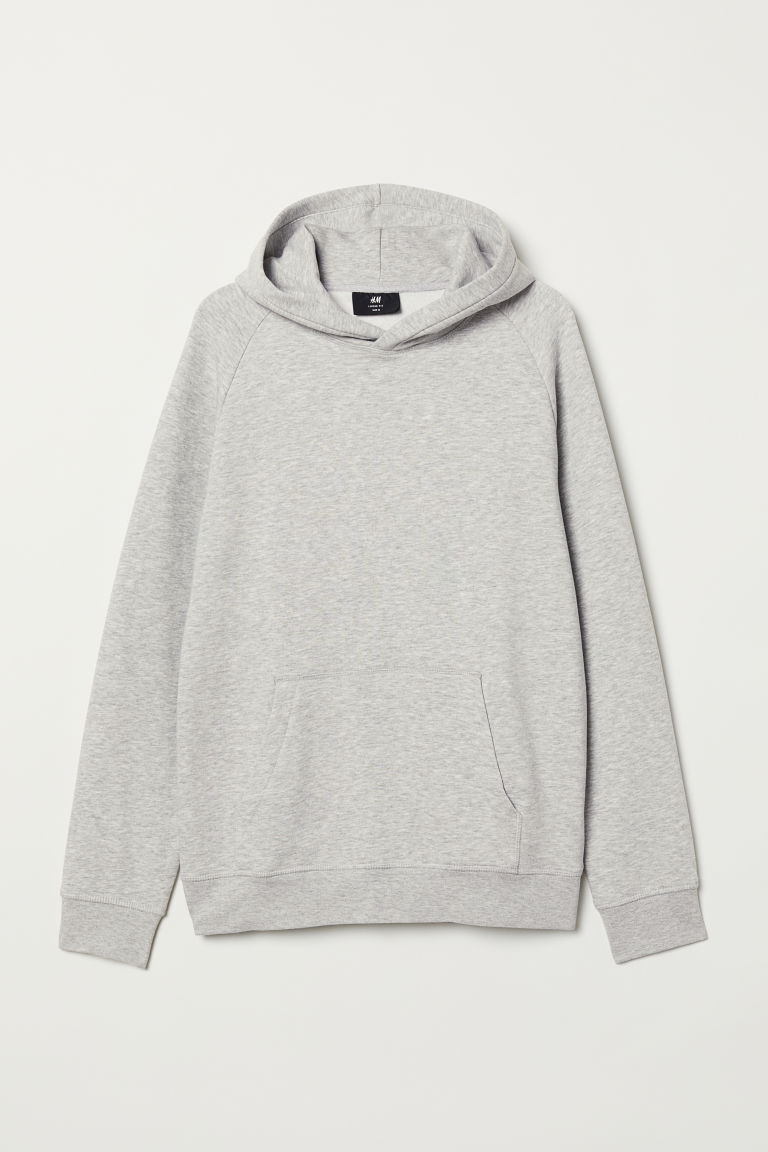 Hooded top Loose fit - Grey marl - Men | H&M
