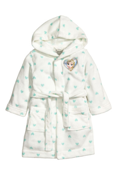 Fleece badjas - Wit/Frozen - KINDEREN | H&M BE