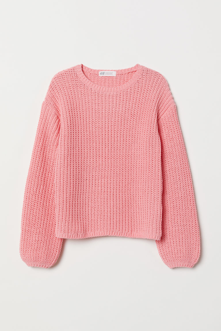 Chunky-knit jumper - Pink - Kids | H&M