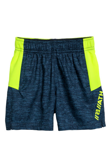 Sports shorts - Dark blue marl - Kids | H&M