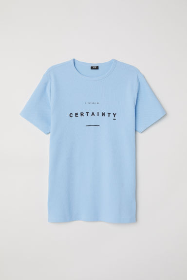 Cotton piqué T-shirt - Light blue - Men | H&M CN
