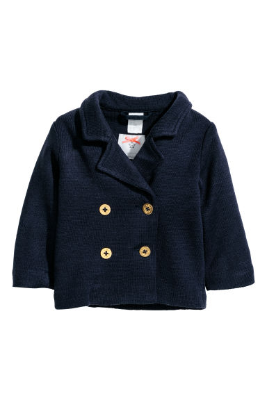 Double-breasted cardigan - Dark blue - Kids | H&M CN