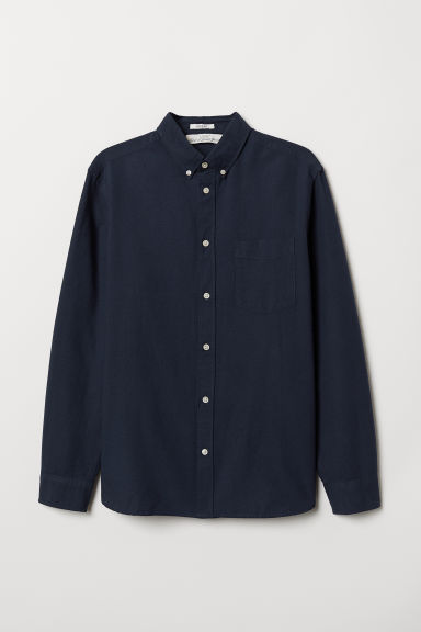 Oxford shirt Regular Fit - Dark blue - Men | H&M CN
