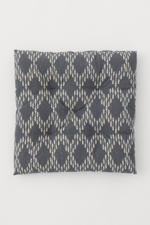 Patterned Cotton Seat Cushion