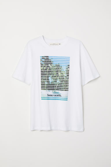 Printed T-shirt - White/Vacation - Men | H&M