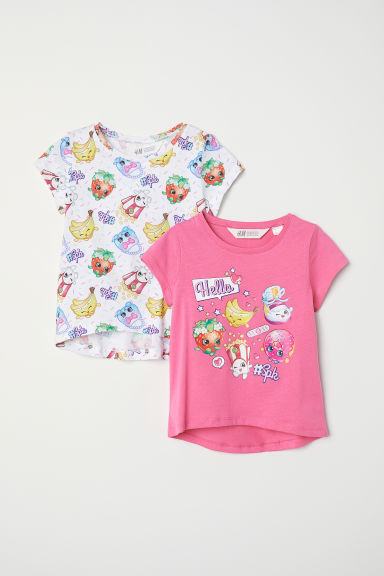 2-pack T-shirts - Dark pink/Shopkins - Kids | H&M