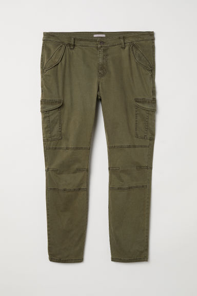 H&M+ Cargo trousers - Dark khaki green -  | H&M