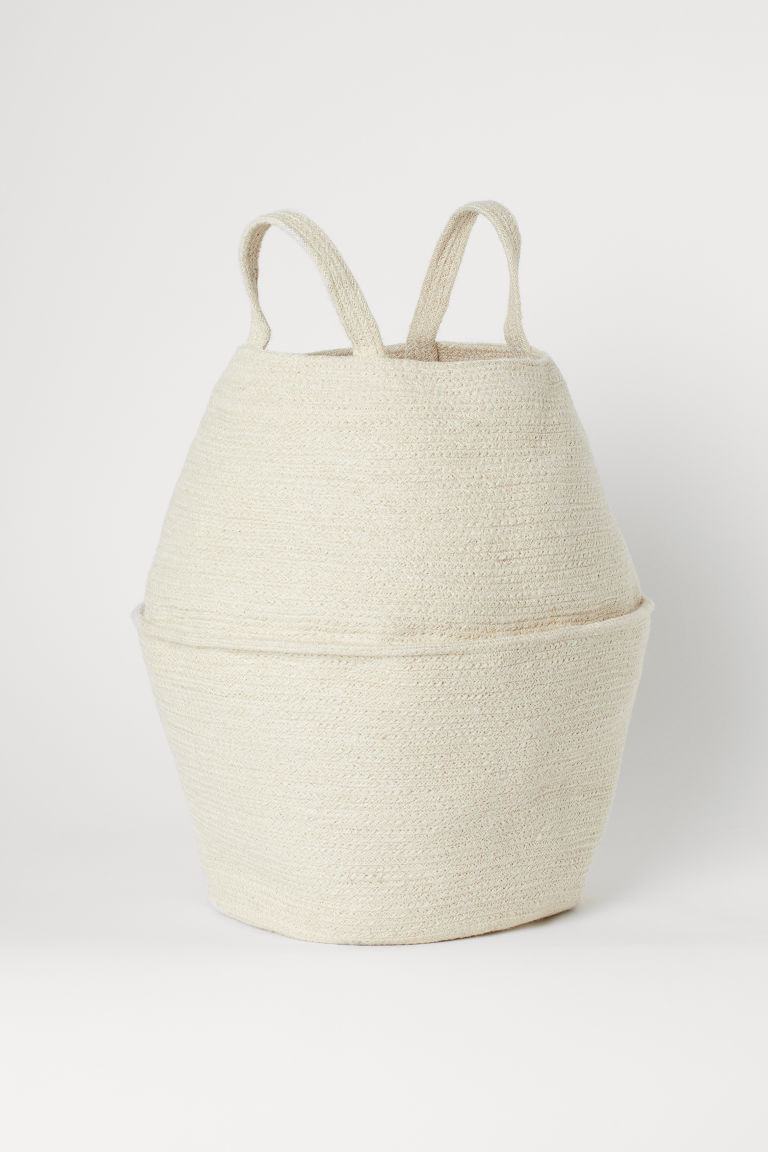 Expandable Laundry Basket - Natural white - Home All | H&M US