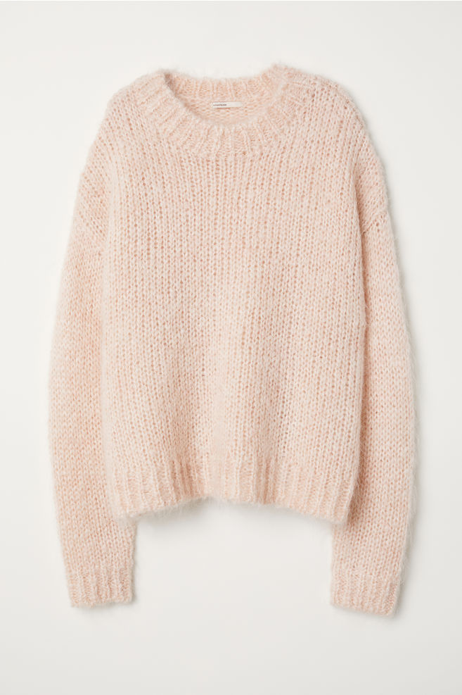 ff9978408 Knitted mohair-blend jumper - Powder pink - Ladies