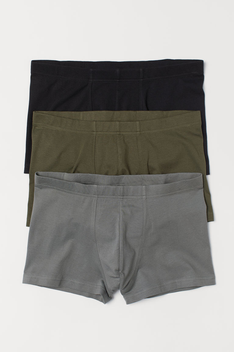 3-pack short trunks - Khaki green - Men | H&M GB