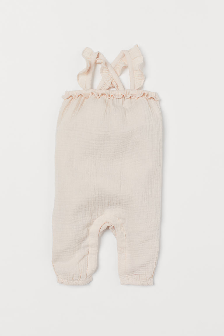 Frilled romper suit - Powder pink - Kids | H&M